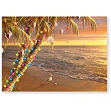 palm-tree-christmas-lights-card-16 Beach Christmas Cards and Nautical Christmas Cards