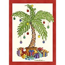 palm-tree-with-presents-christmas-cards-18 Beach Christmas Cards and Nautical Christmas Cards