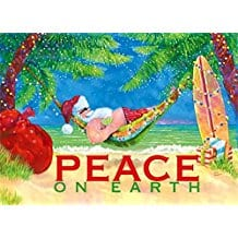 peace-on-earth-santa-hammock-christmas-cards-18 Beach Christmas Cards and Nautical Christmas Cards