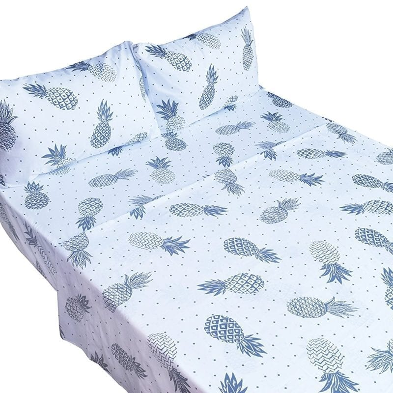 pineapple-printed-bed-sheet-set-800x800 50+ Pineapple Bedding Sets, Quilts, and Duvet Covers