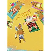santa-and-crew-sunbath-on-beach-christmas-cards-18 Beach Christmas Cards and Nautical Christmas Cards