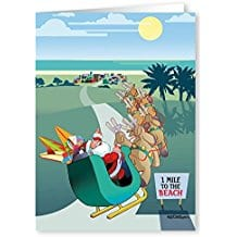 santa-going-to-the-beach-christmas-card-18 Beach Christmas Cards and Nautical Christmas Cards