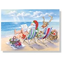 santa-on-beach-christmas-cards-18 Beach Christmas Cards and Nautical Christmas Cards