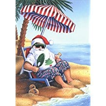 santa-on-beach-sand-christmas-cards-18 Beach Christmas Cards and Nautical Christmas Cards