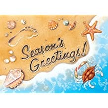 seasons-greetings-beach-christmas-card-18 Beach Christmas Cards and Nautical Christmas Cards