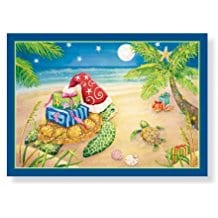 turtle-with-palm-trees-christmas-cards-16 Beach Christmas Cards and Nautical Christmas Cards