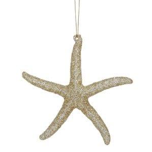 AcrylicGlitterStarfishOrnament Starfish Christmas Ornaments