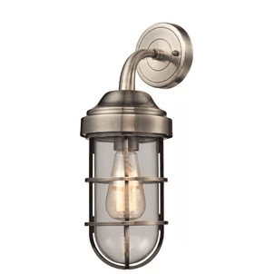 Humphries-1-Light-Wall-Sconce-by-Beachcrest-Home Nautical Bathroom Lighting and Beach Bathroom Lighting