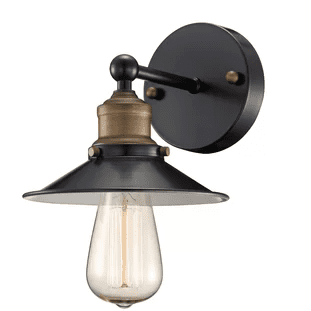 Maclaren-1-Light-Armed-Sconce-by-Beachcrest-Home Nautical Bathroom Lighting and Beach Bathroom Lighting