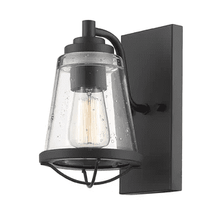 Mariner-1-Light-Armed-Sconce-by-Z-Lite Nautical Bathroom Lighting and Beach Bathroom Lighting