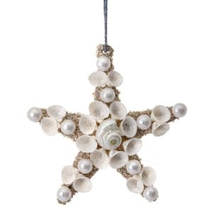 ShellsonStarfishOrnamentSetof4 Starfish Christmas Ornaments