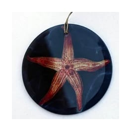 Starfish-in-Water-Frosted-Glass-Ornament-by-Radiant-Art-Studios Starfish Christmas Ornaments