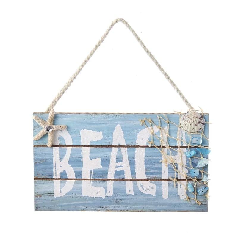 Wooden-Beach-Sign-Ornament-by-Kurt-Adler Starfish Christmas Ornaments