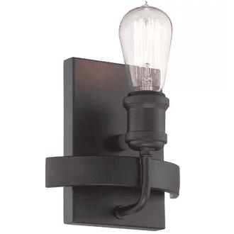 black-Perlita-1-Light-Armed-Sconce-by-Langley-Street Nautical Bathroom Lighting and Beach Bathroom Lighting