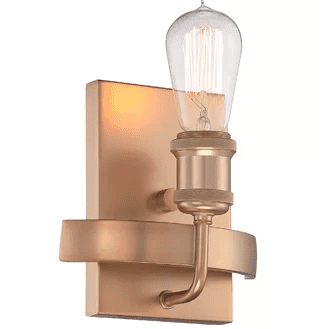 gold-Perlita-1-Light-Armed-Sconce-by-Langley-Street Nautical Bathroom Lighting and Beach Bathroom Lighting