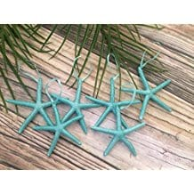 metallic-turquoise-starfish-ornaments Starfish Christmas Ornaments