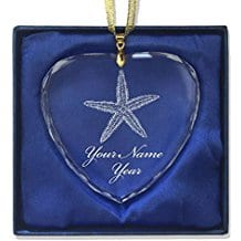 personalized-heart-crystal-christmas-starfish-ornament 50+ Starfish Christmas Ornaments