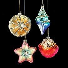 set-of-4-seashell-christmas-ornaments Starfish Christmas Ornaments