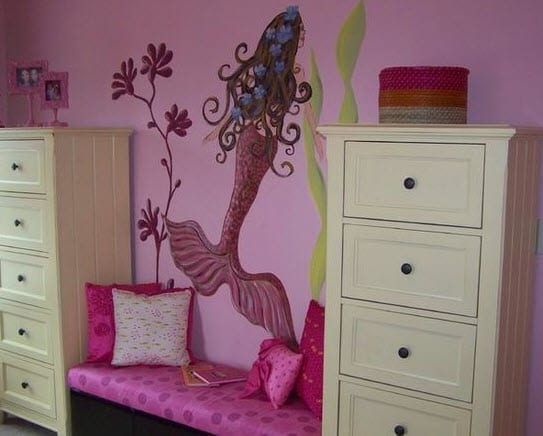 Anita-Roll-by-Anita-Roll-Murals Mermaid Home Decor