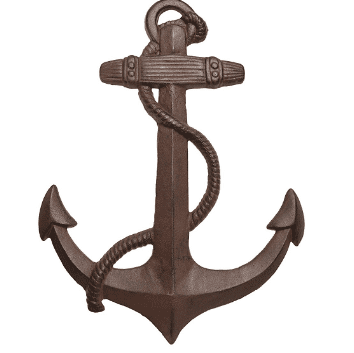 Large-Nautical-Decor-Wall-Art-Anchor- 100+ Nautical Anchor Decorations and Decor