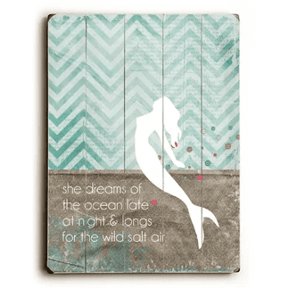 She-Dreams-Mermaid-Wall-Décor Mermaid Home Decor