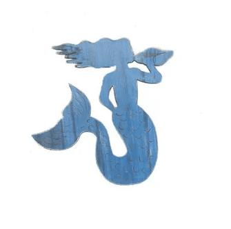 blue-rustic-mermaid-wall-decor Mermaid Home Decor