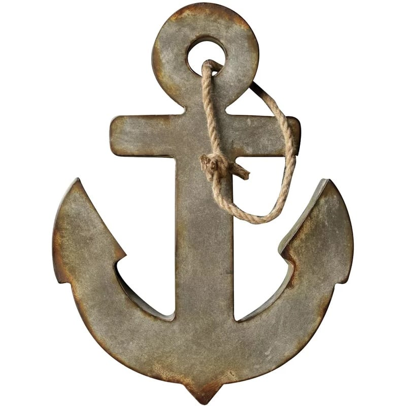 breakwater-bay-anchor-wall-decor Nautical Anchor Decor