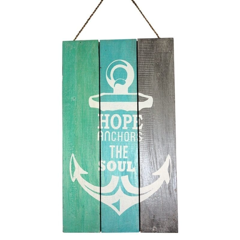 hope-anchors-the-soul-wooden-sign-800x800 100+ Nautical Anchor Decorations and Decor