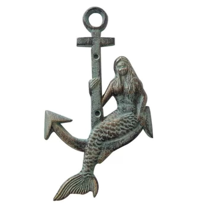 mermaid-anchor-wall-decor Nautical Anchor Decor