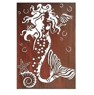 mermaid-wall-decor-brown-rosecliff-heights Mermaid Home Decor