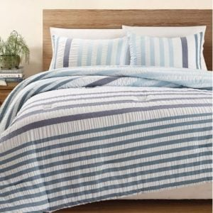 Blue Striped Bedding