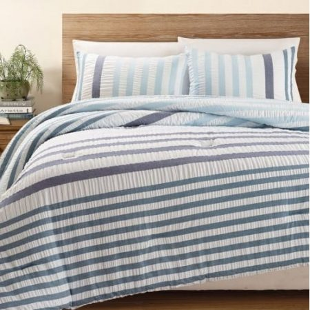 Blue Striped Bedding