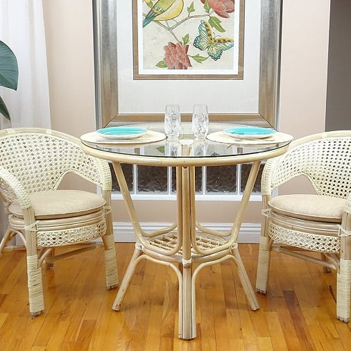 3-piece-pelangi-rattan-wicker-dining-set Best White Wicker Furniture