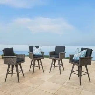 30-inch-wicker-bar-stools-set-of-4 Wicker Bar Stools