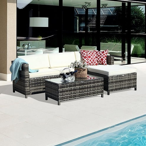 5-pc-pe-rattan-wicker-furniture-set Best Outdoor Wicker Patio Furniture