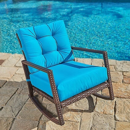 all-weather-brown-wicker-rocking-chair Best White Wicker Furniture