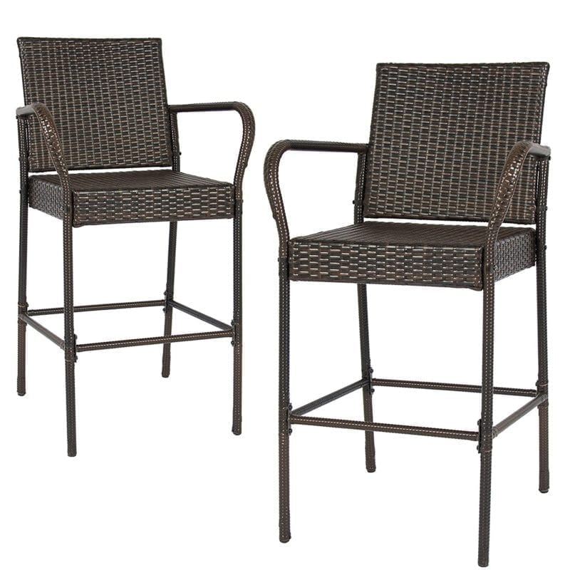 best-choice-products-set-of-2-brown-wicker-bar-stool-800x800 Wicker Bar Stools & Rattan Bar Stools