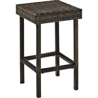 crosley-24-bar-stool-set-of-2-black Wicker Bar Stools