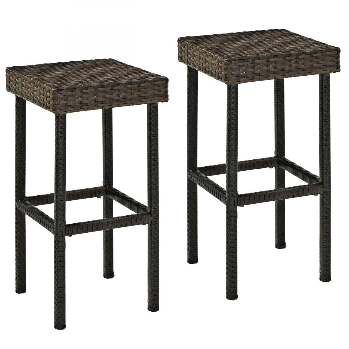 crosley-furniture-palm-harbor-outdoor-wicker-bar-stool Wicker Bar Stools & Rattan Bar Stools