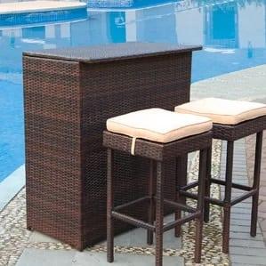 guilderland-3-piece-wicker-patio-bar-set Wicker Bar Stools