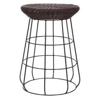household-essentials-20-wicker-bar-stool Wicker Bar Stools