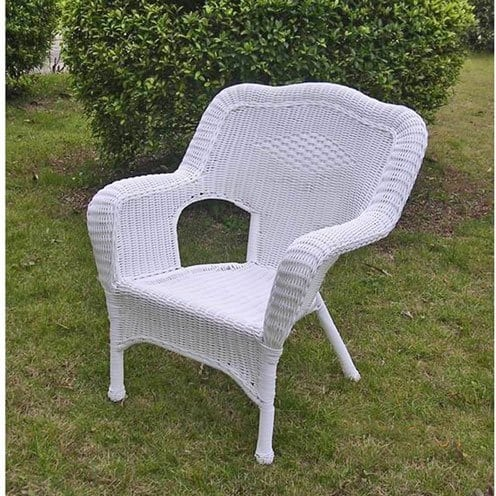 international-caravan-monaco-all-weather-white-wicker-chair Best White Wicker Furniture