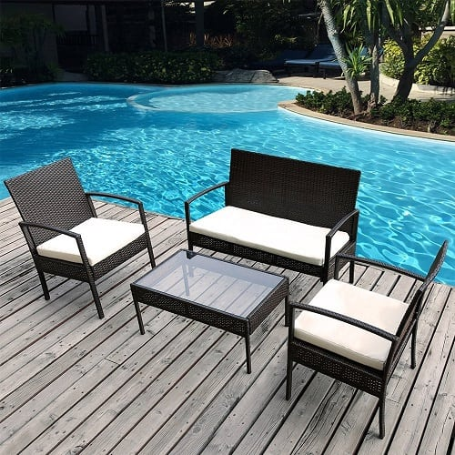 merax-4pc-outdoor-rattan-wicker-furniture-set Best Outdoor Wicker Patio Furniture