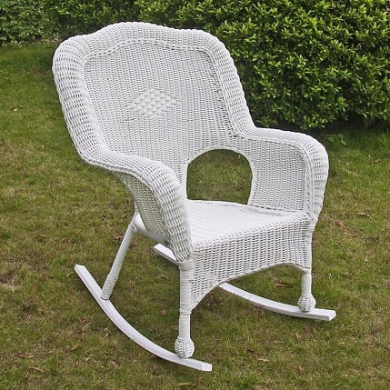 monaco-outdoor-white-wicker-rocking-chair Best White Wicker Furniture