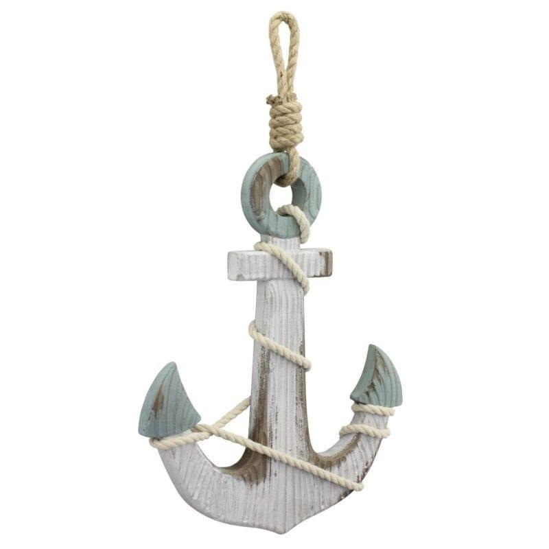 nautical-white-anchor-wood-wall-decor-800x800 100+ Nautical Wooden Signs & Nautical Wood Wall Decor