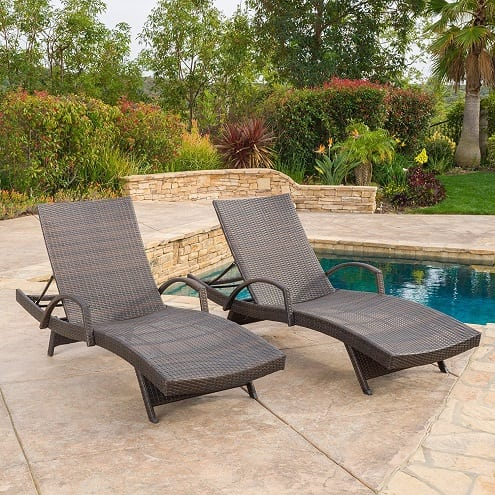 olivia-outdoor-brown-wicker-chaise-lounge-chairs Best Outdoor Wicker - Outdoor Wicker Patio Furniture - Beachfront Decor
