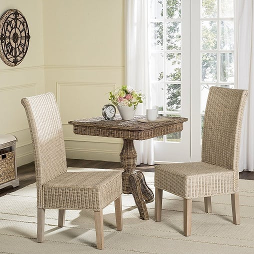 safavieh-home-collection-white-wash-wicker-dining-set Best White Wicker Furniture