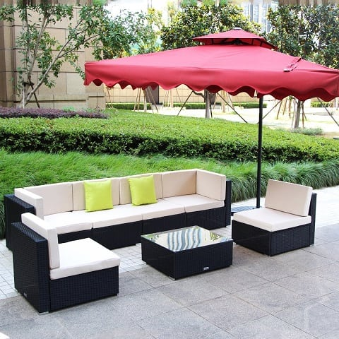 umax-7-piece-pe-rattan Best Outdoor Wicker Patio Furniture