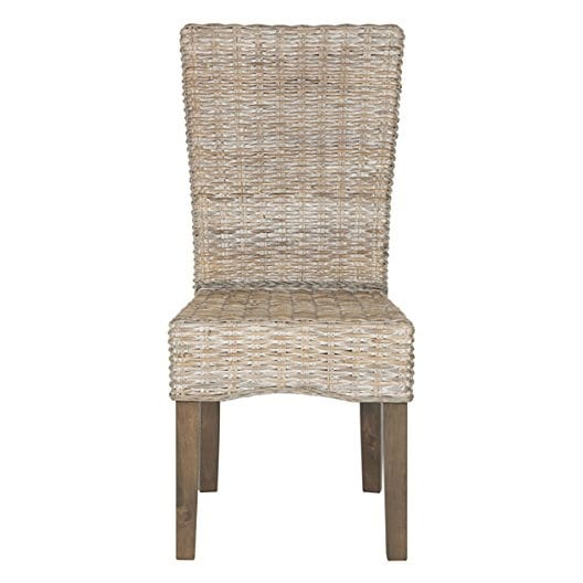 white-wash-wicker-dining-chair Best White Wicker Furniture