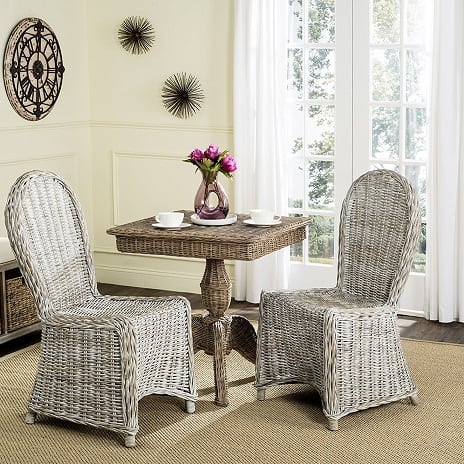 white-wash-wicker-dining-set Best White Wicker Furniture